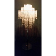 LIGHTED ACRYLIC CRYSTAL CHANDELIER - 3 TIER