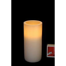 LED WAX PILLAR CANDLE - AMBER FLICKER - 15