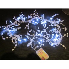 LED CRYSTAL GARLAND WITH WHITE LED LIGHTS