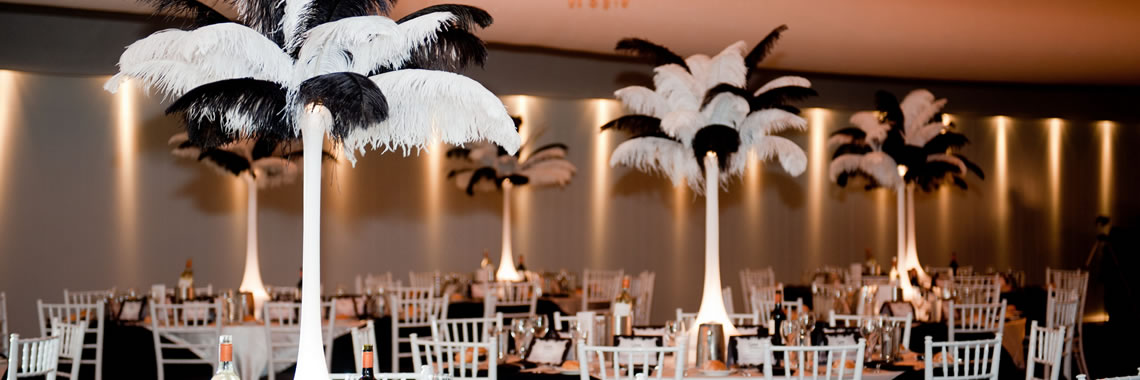 Event Effects Feathered Centrepieces